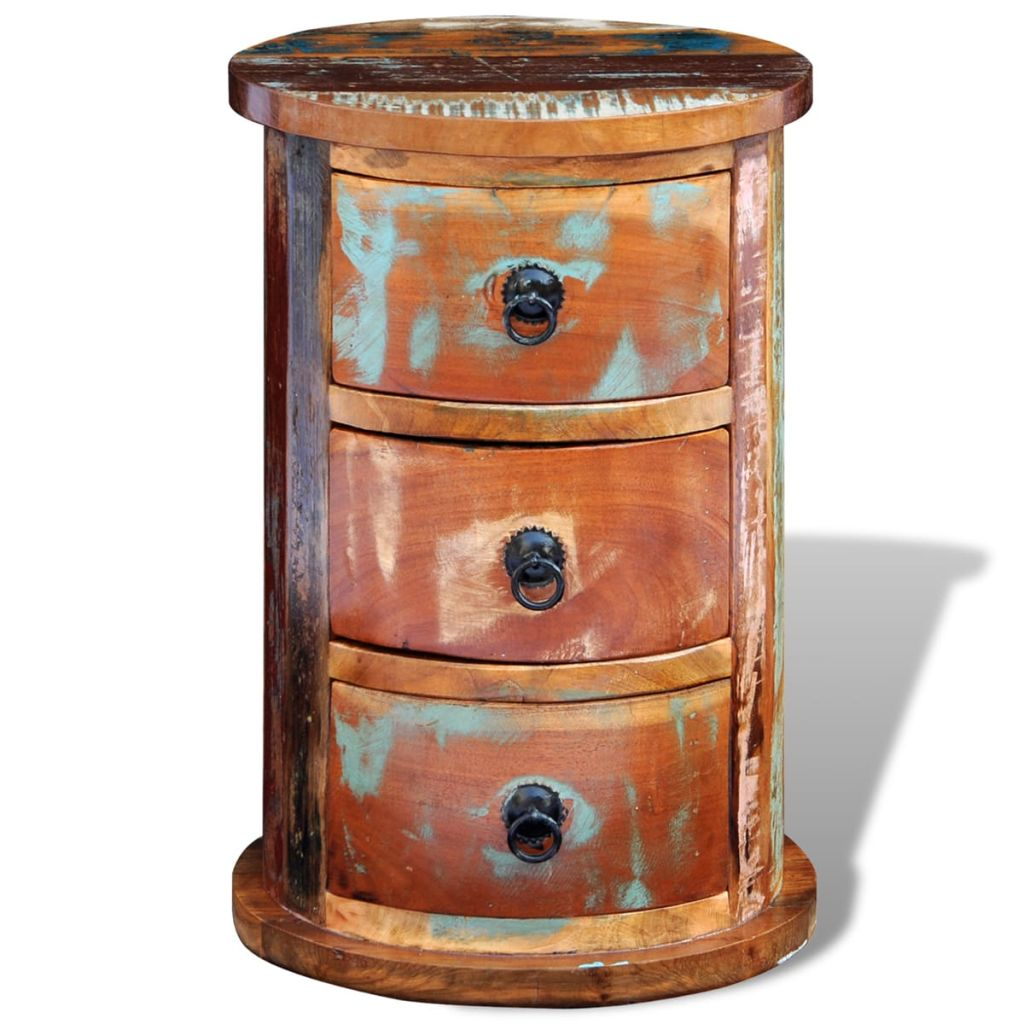 Reclaimed Cabinet with 3 Drawers Solid Wood 8