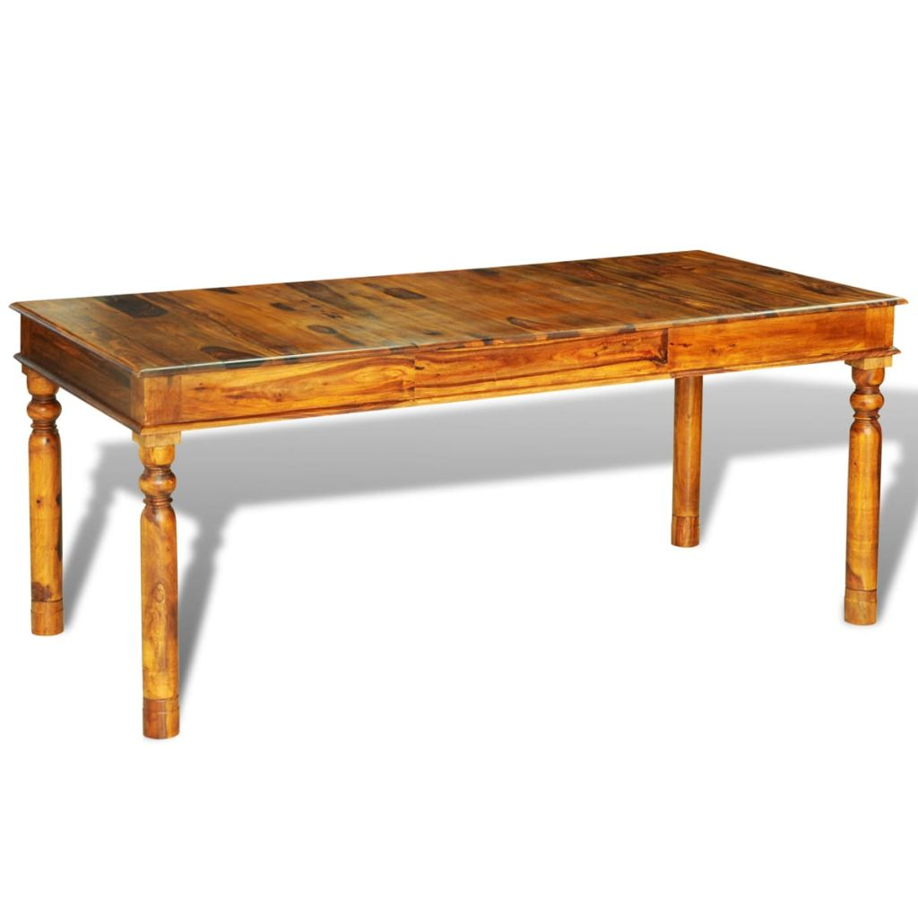Dining Table 180x85x76 cm Solid Sheesham Wood 2