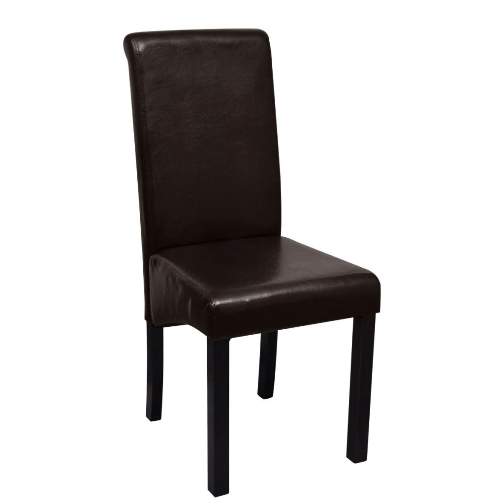 Dining Chairs 4 pcs Brown Faux Leather 4