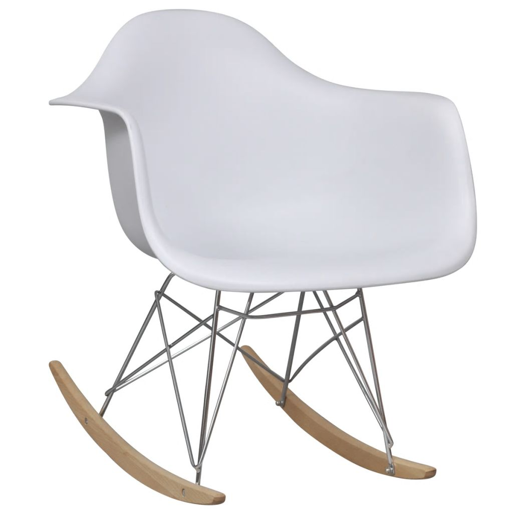 Rocking Chair White Plastic