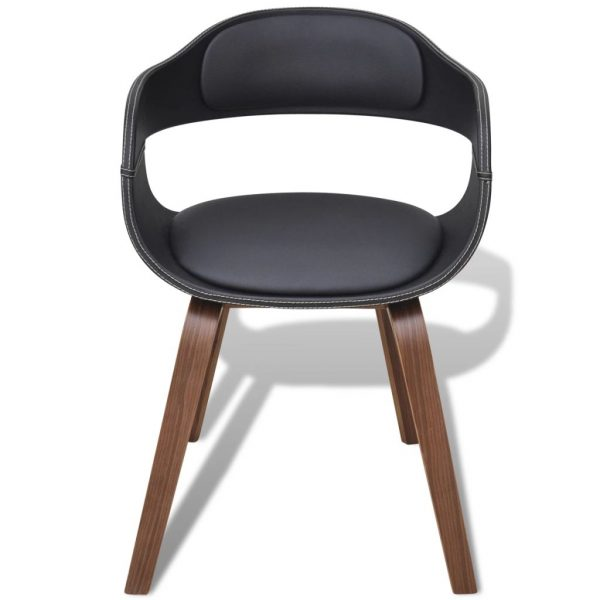 Dining Chair with Bentwood and Faux Leather 2