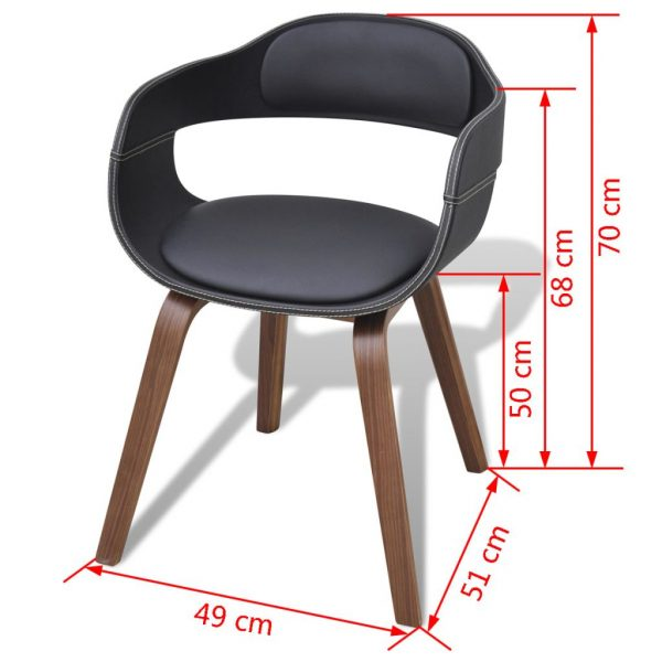 Dining Chair with Bentwood and Faux Leather 5