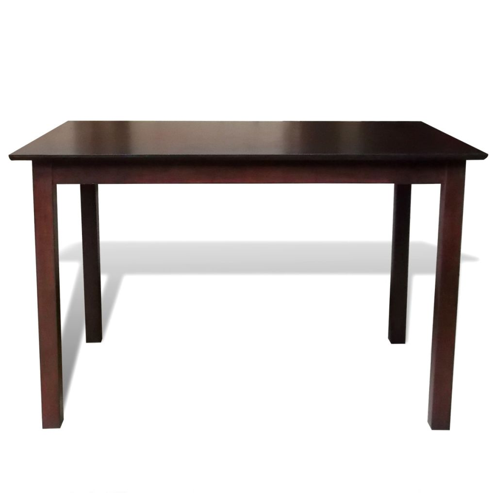 Dining Table 110 cm Solid Wood Brown 2