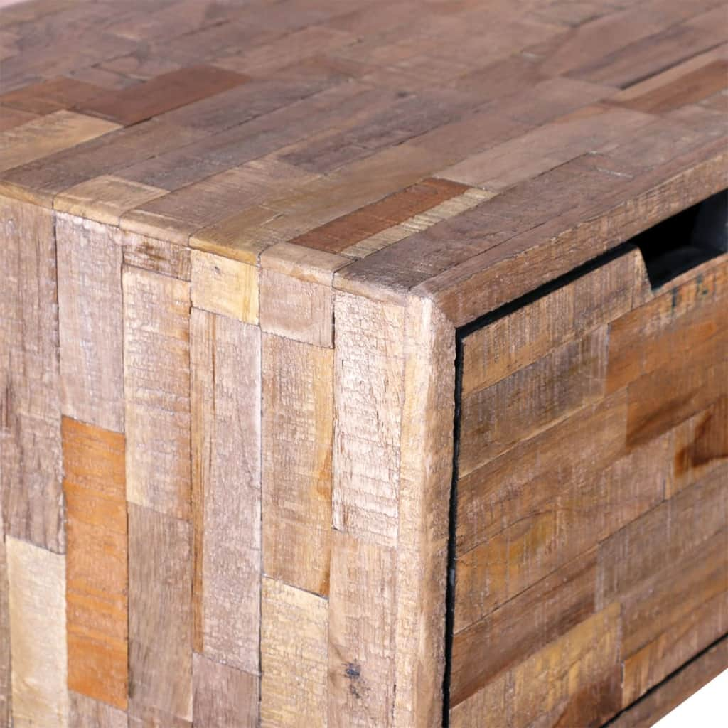 Console Table with 3 Drawers Reclaimed Teak Wood 8