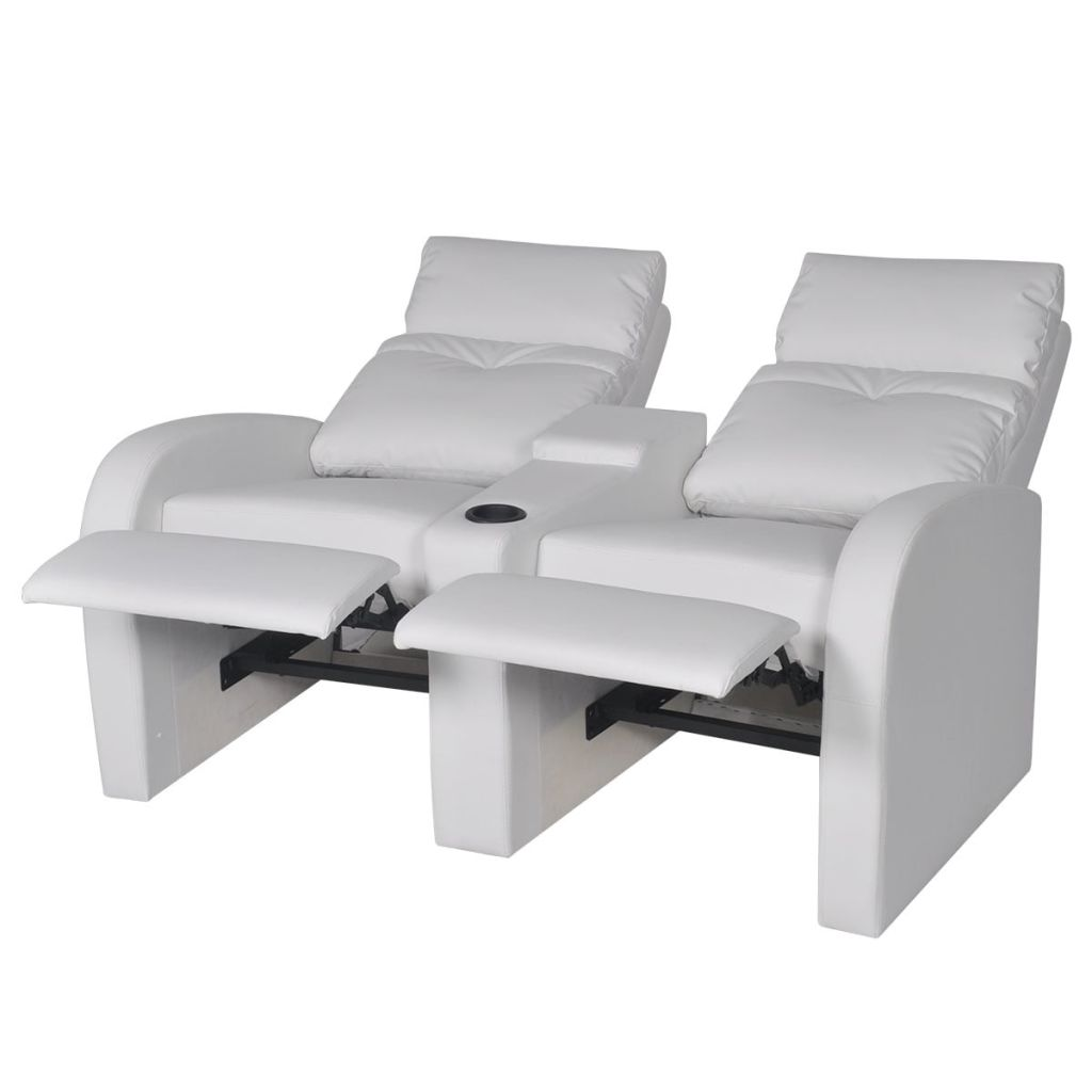 Recliner 2-seat Artificial Leather White 4