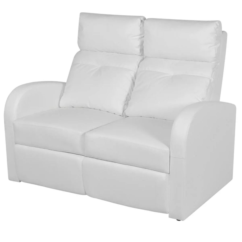Recliner 2-seat Artificial Leather White