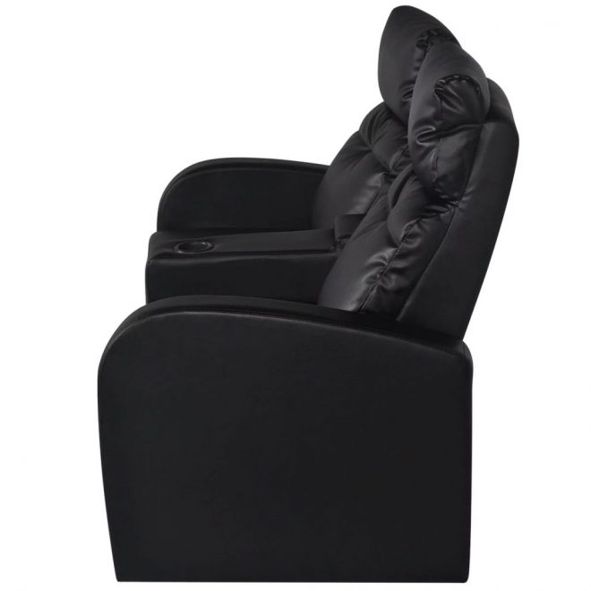 Recliner 2-seat Artificial Leather Black 5