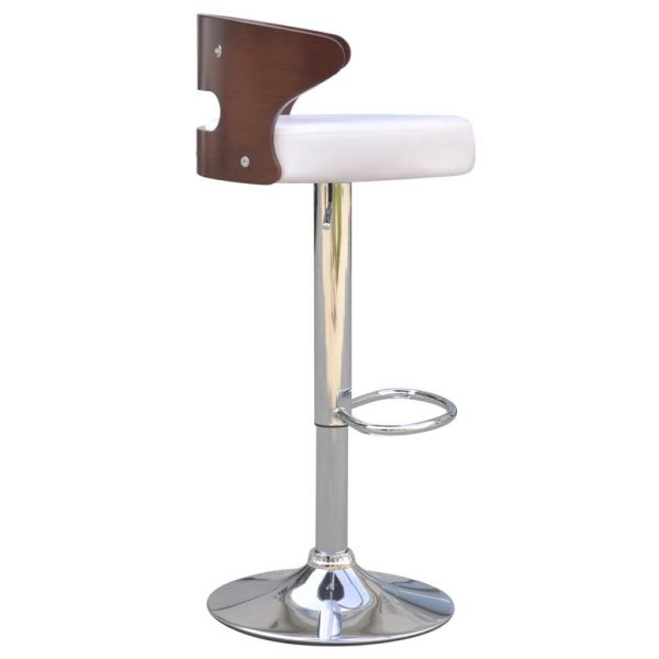 Bar Stools 2 pcs with Bentwood Frame Artificial Leather 3