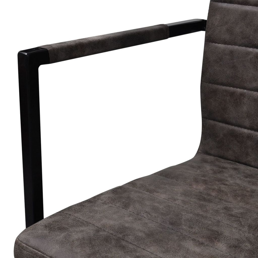 Dining Chairs 2 pcs Brown Faux Leather 6