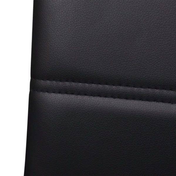 Dining Chairs 4 pcs Black Faux Leather 6