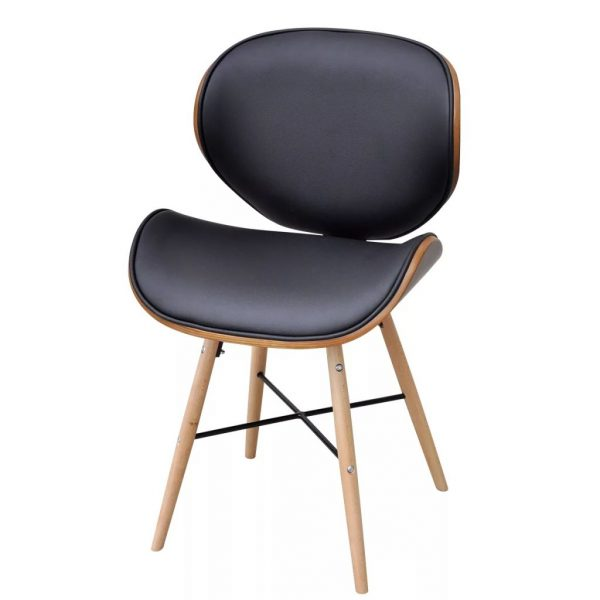 Dining Chairs 6 pcs Bentwood and Faux Leather 2