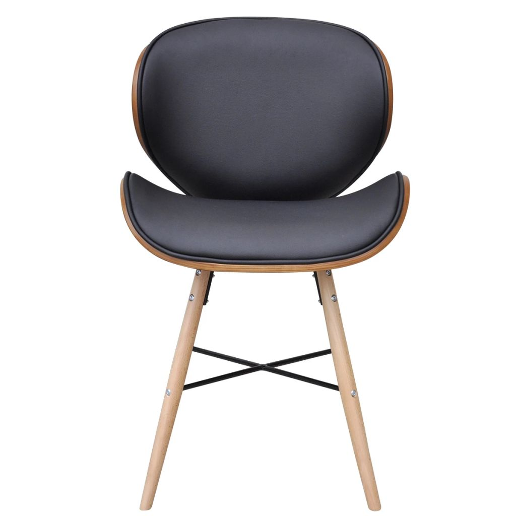 Dining Chairs 6 pcs Bentwood and Faux Leather 3