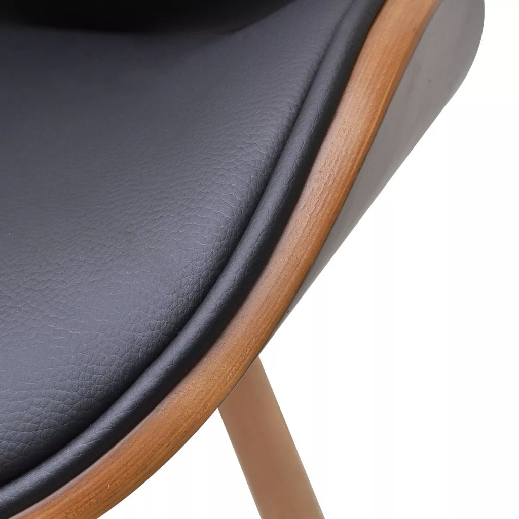 Dining Chairs 6 pcs Bentwood and Faux Leather 5