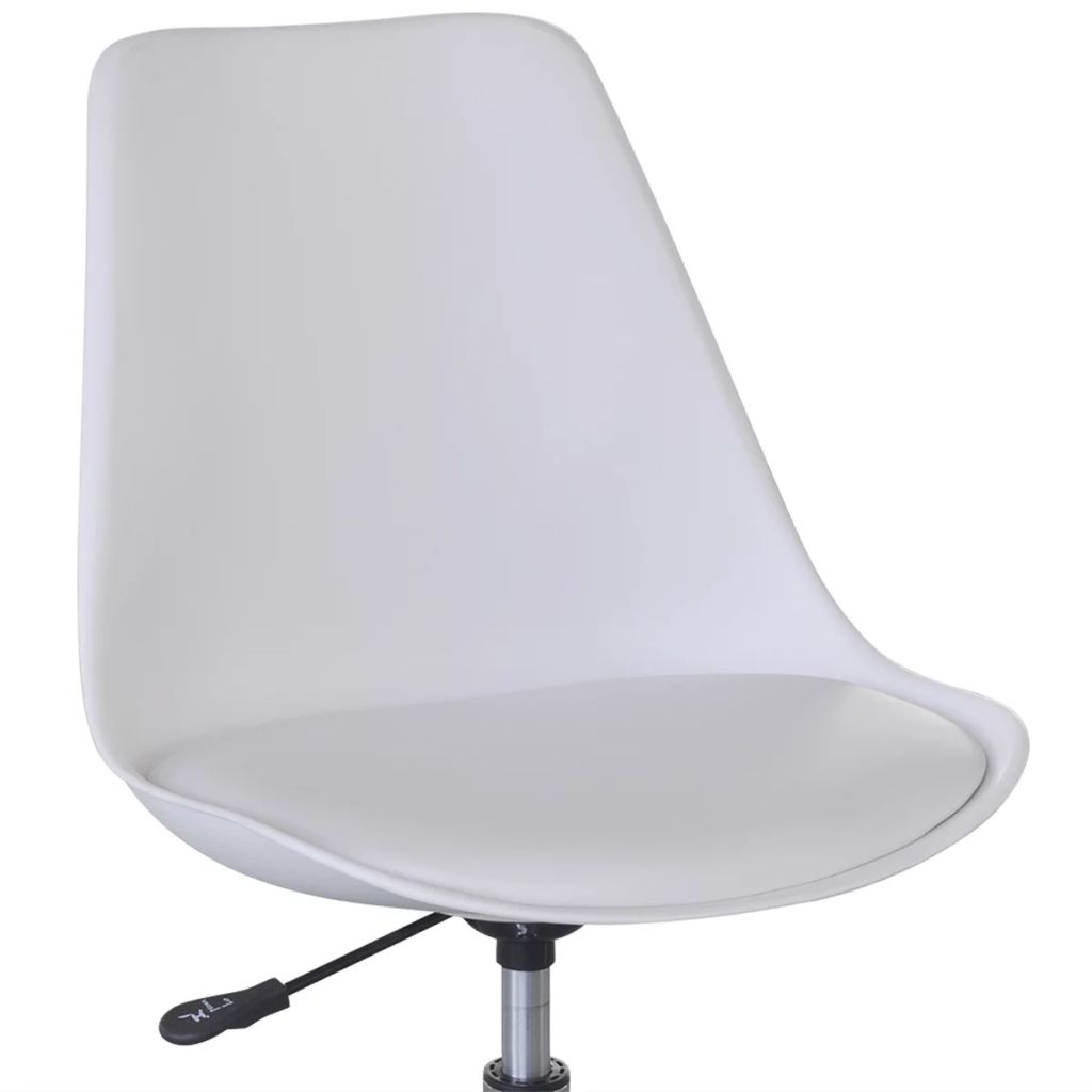 Swivel Dining Chairs 2 pcs White Faux Leather 5