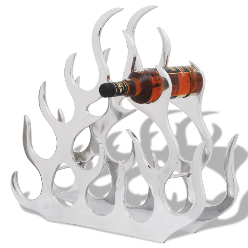 Wine Stand for 11 Bottles Silver Aluminium 1