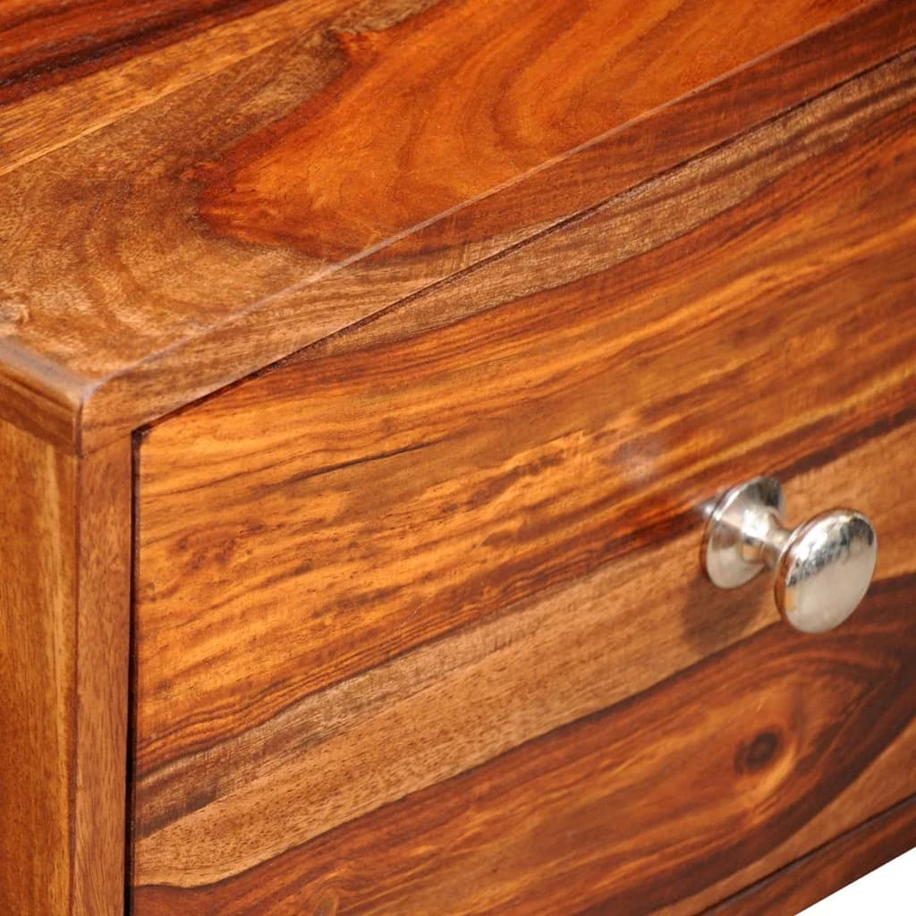 Nightstand with 1 Drawer 55 cm Solid Sheesham Wood 5