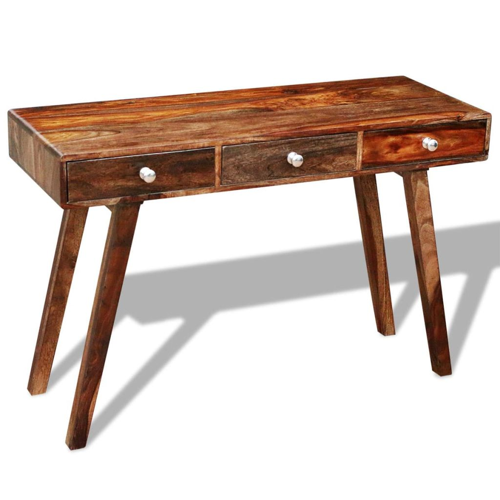 Console Table with 3 Drawers 76 cm Solid Sheesham Wood 3