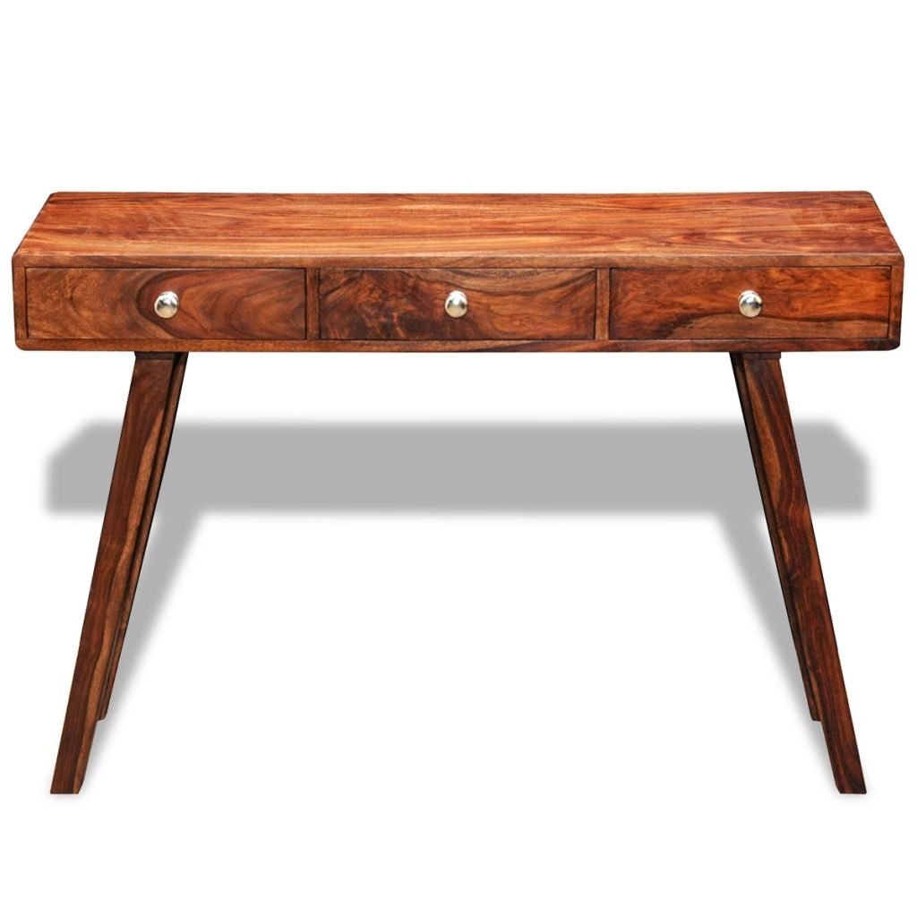 Console Table with 3 Drawers 76 cm Solid Sheesham Wood 5
