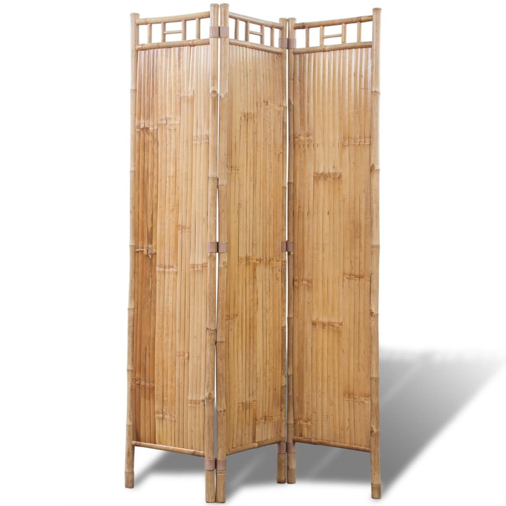 3-Panel Bamboo Room Divider 1