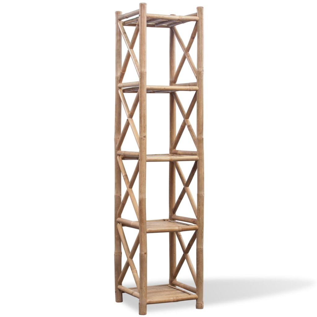 5-Tier Square Bamboo Shelf 1