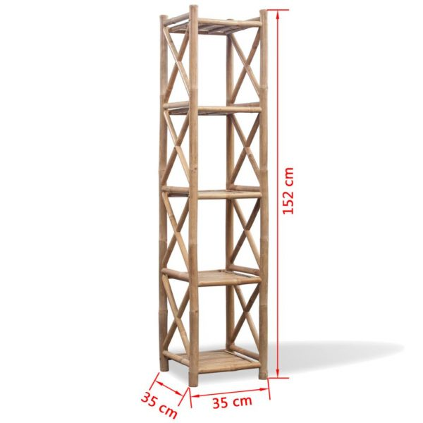 5-Tier Square Bamboo Shelf 5