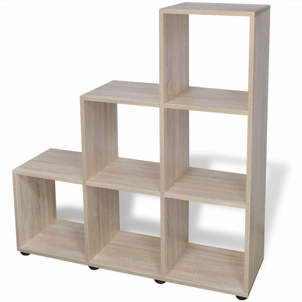 Staircase Bookcase/Display Shelf 107 cm Oak 2