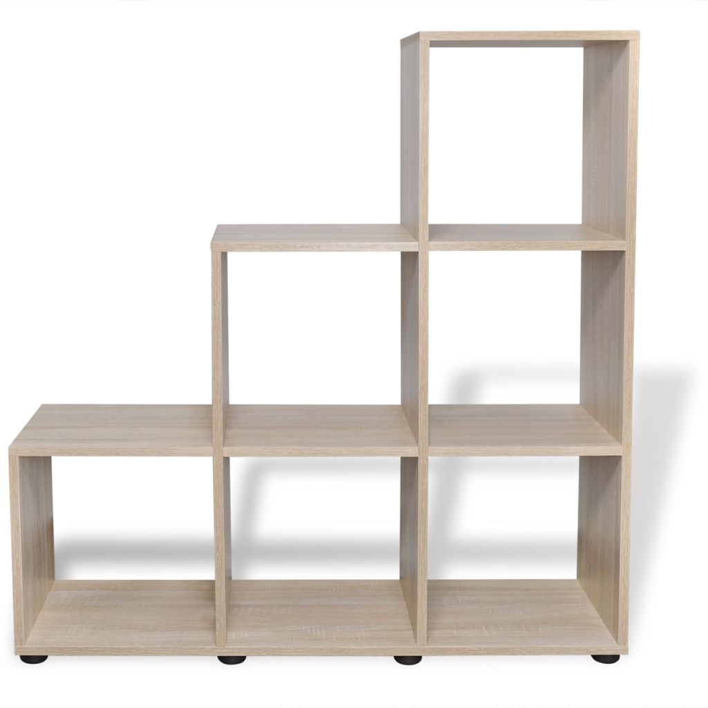 Staircase Bookcase/Display Shelf 107 cm Oak 3