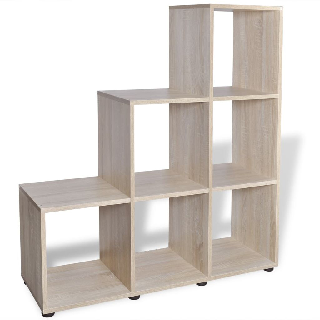 Staircase Bookcase/Display Shelf 107 cm Oak 4