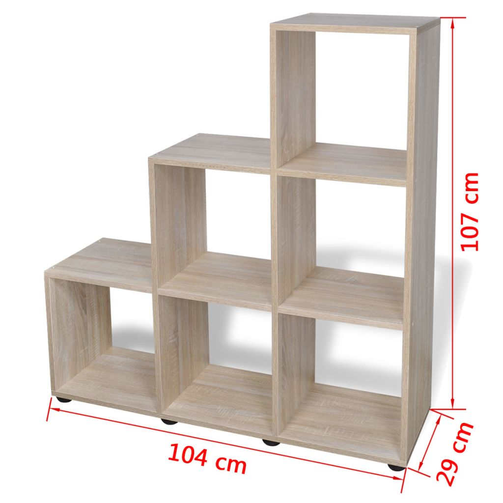 Staircase Bookcase/Display Shelf 107 cm Oak 7