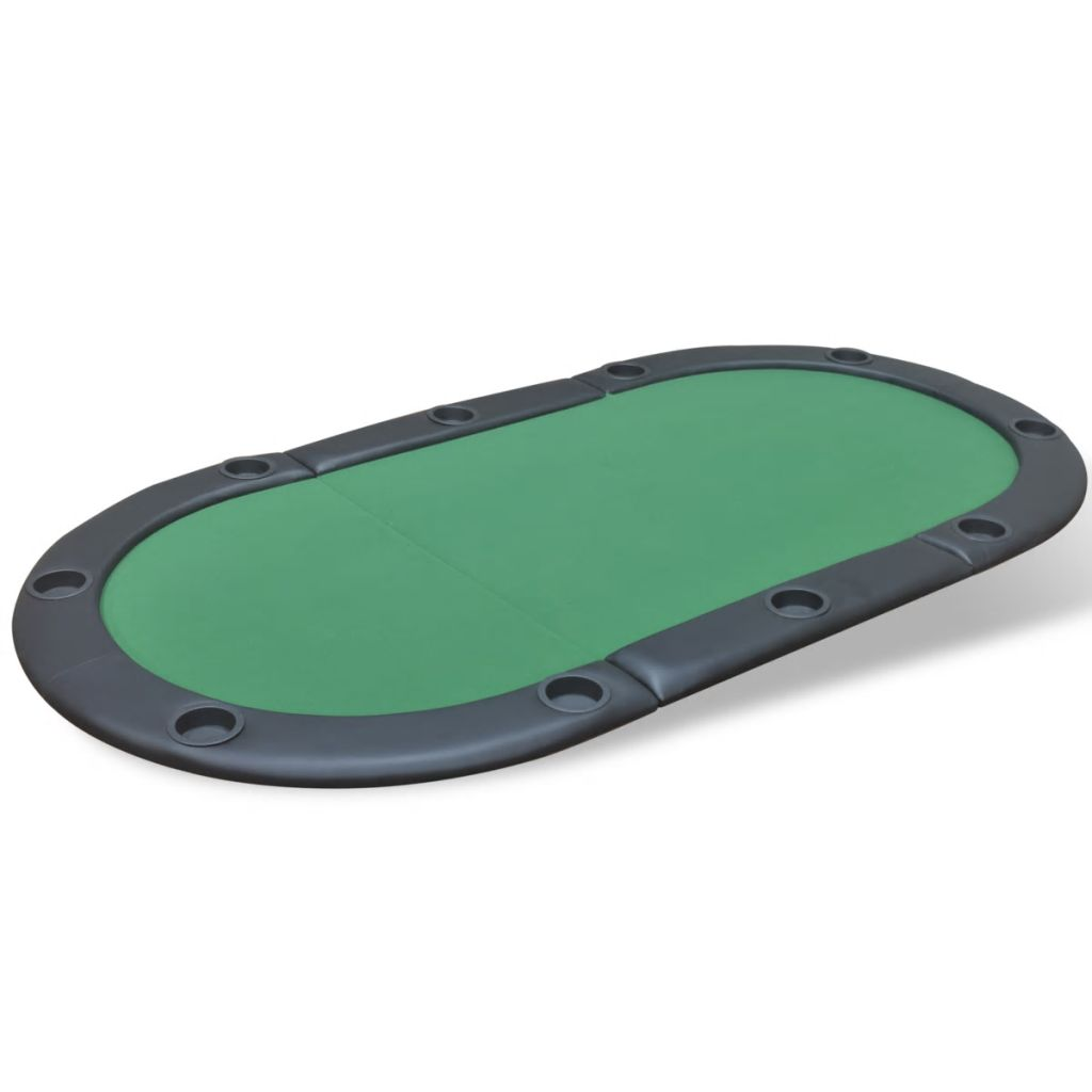 10-Player Foldable Poker Tabletop Green 2
