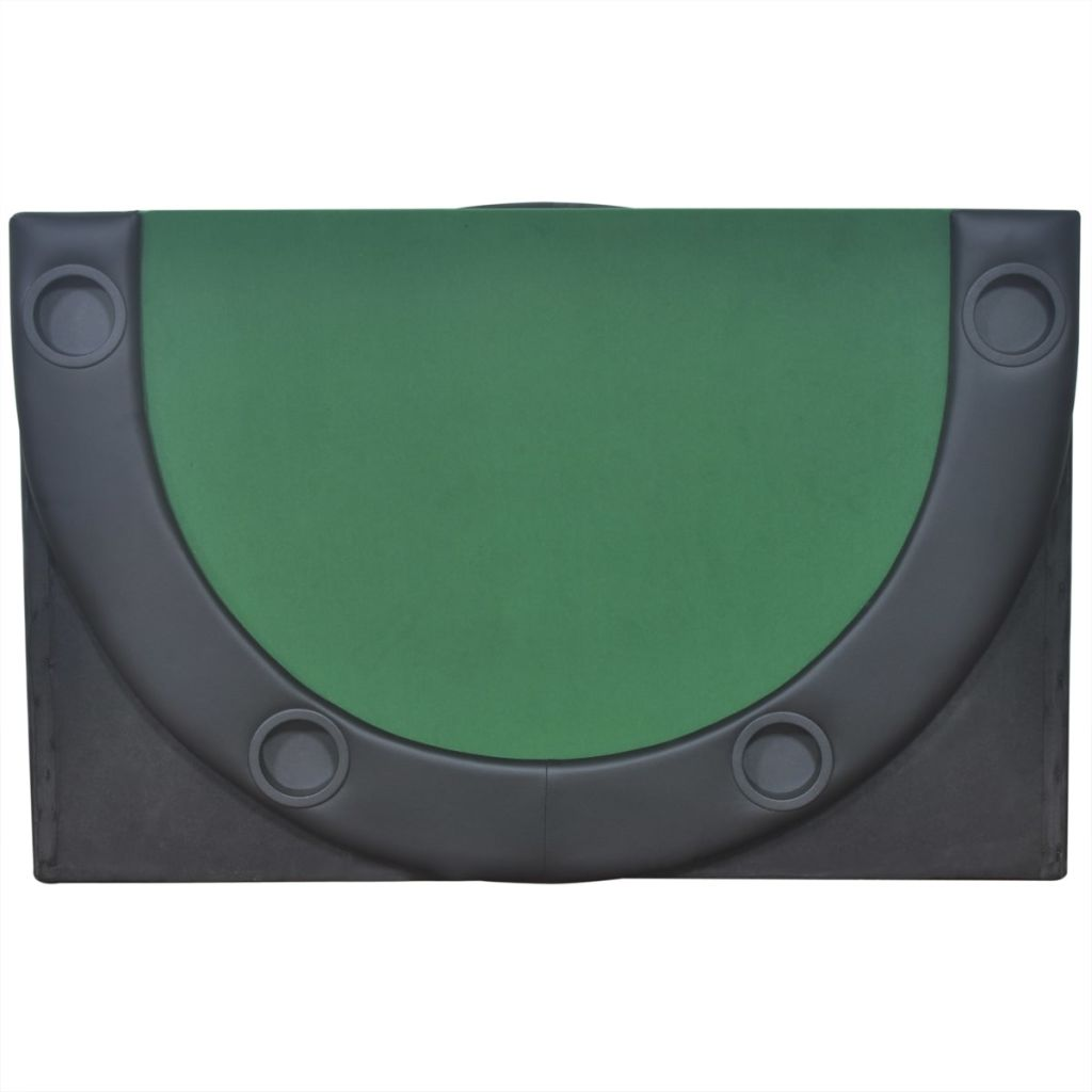 10-Player Foldable Poker Tabletop Green 4