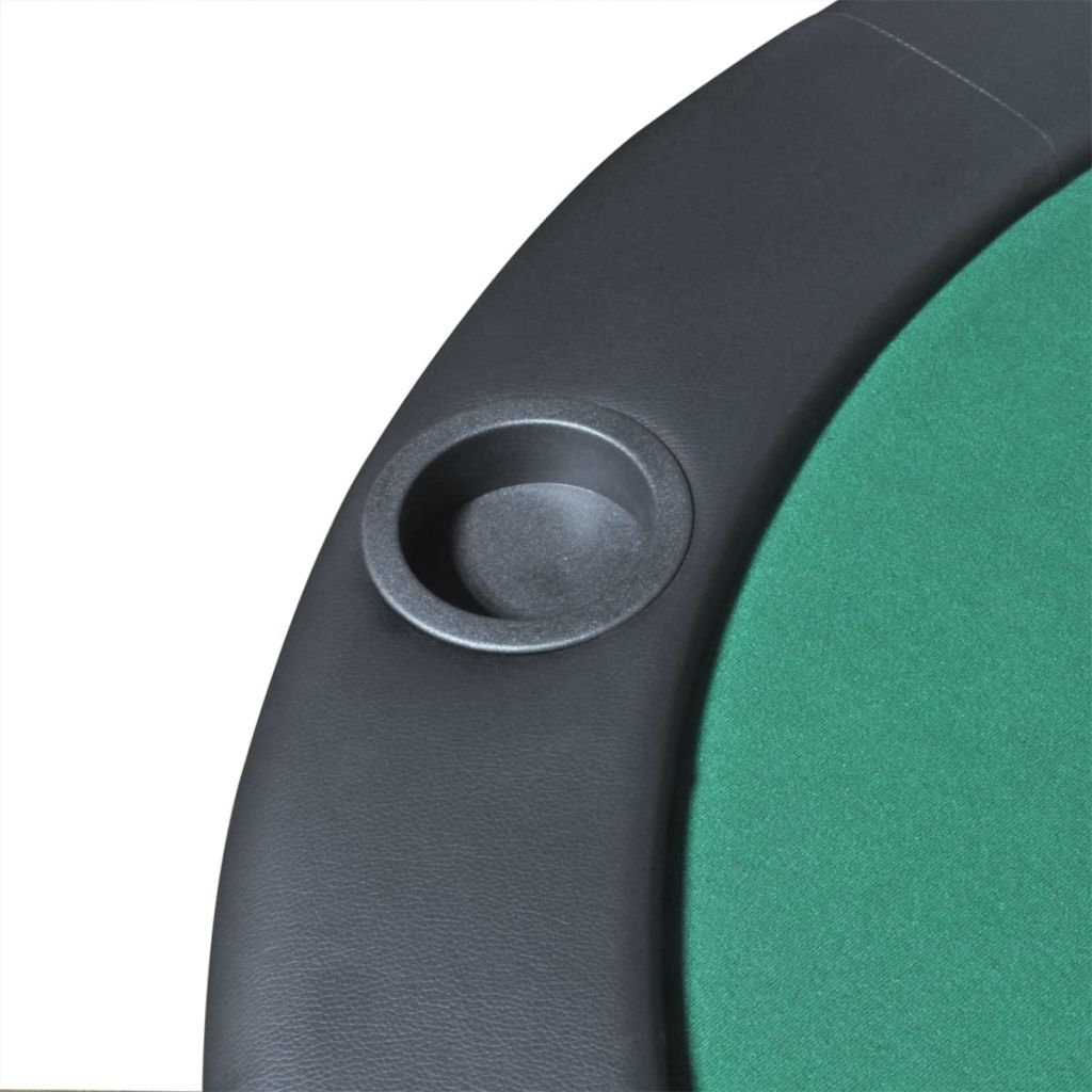 10-Player Foldable Poker Tabletop Green 5