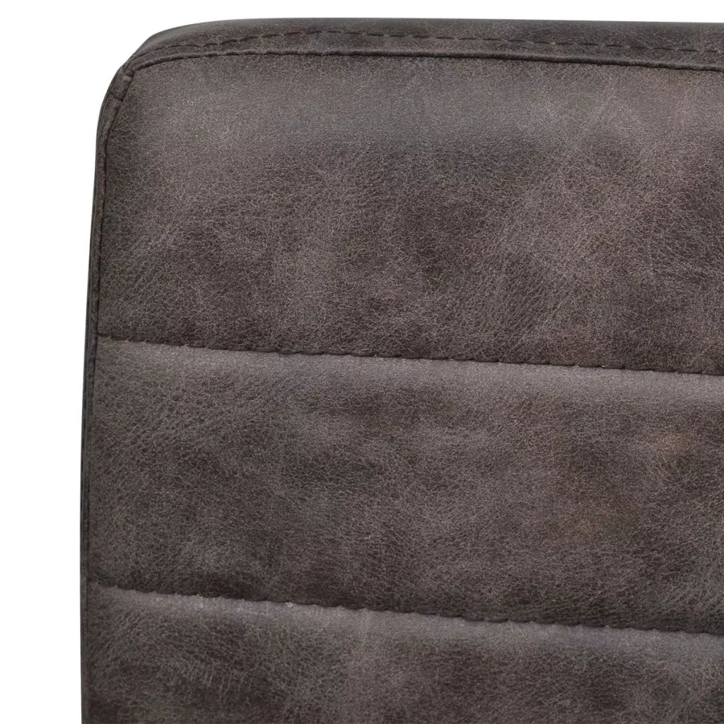 Dining Chairs 6 pcs Brown Faux Leather 7