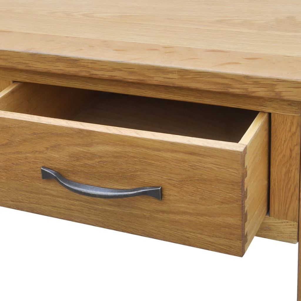 Dressing Table with Stool Solid Oak Wood 5