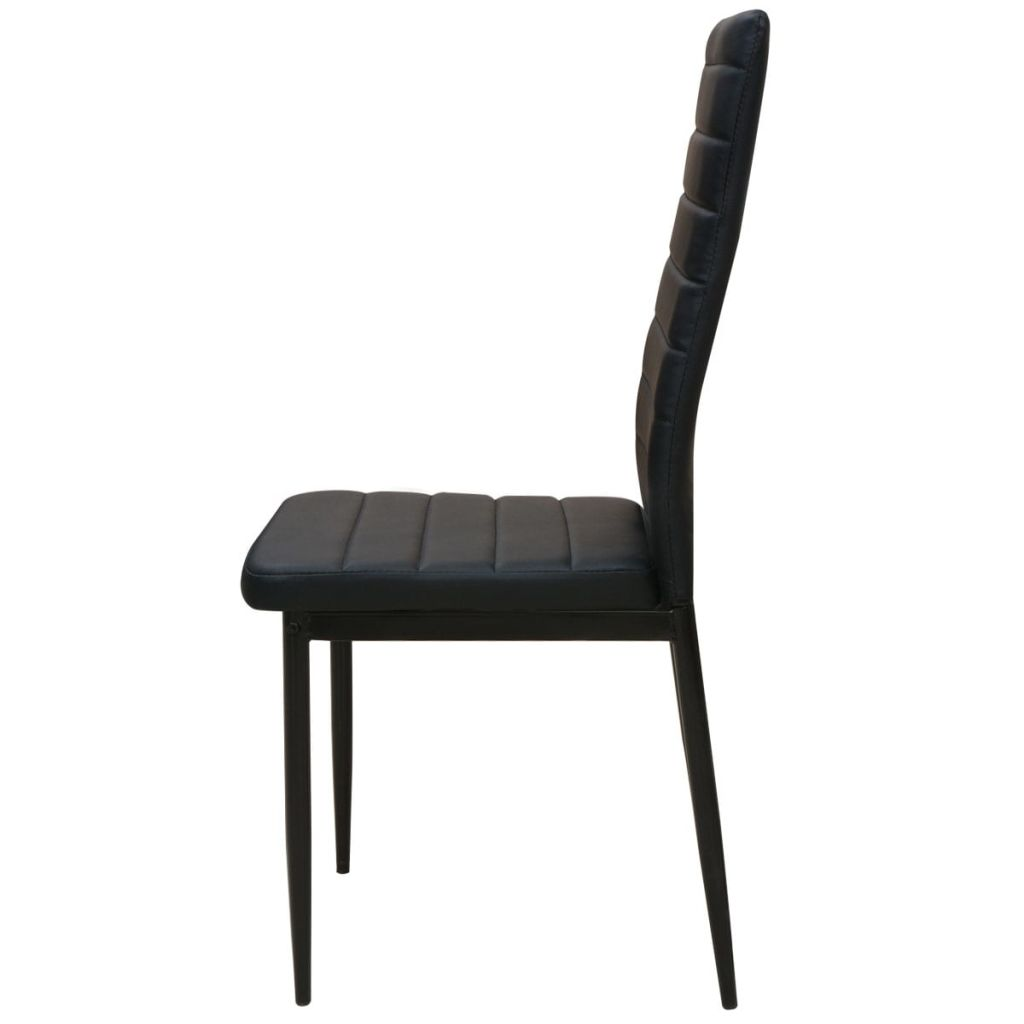 Five Piece Dining Table and Chair Set Black 5