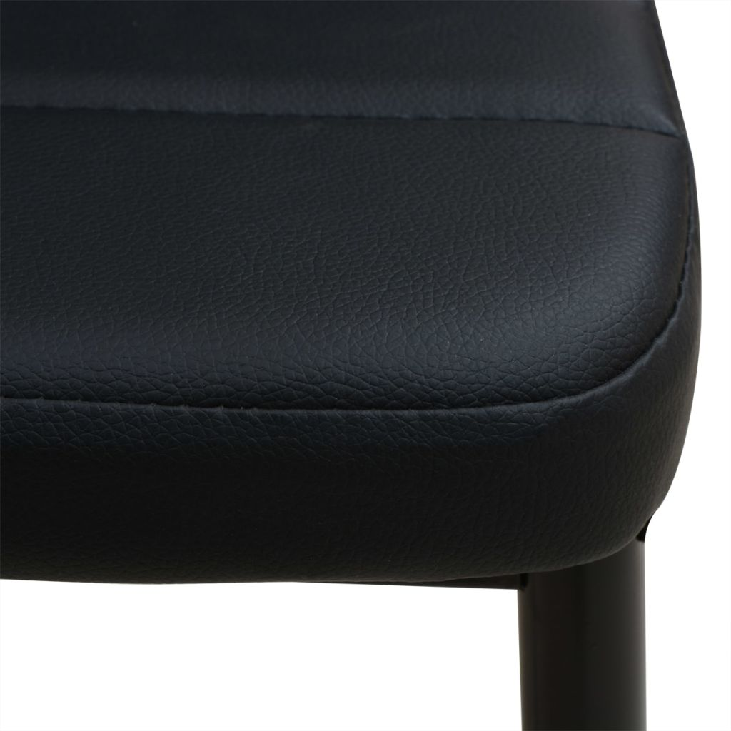 Five Piece Dining Table and Chair Set Black 7