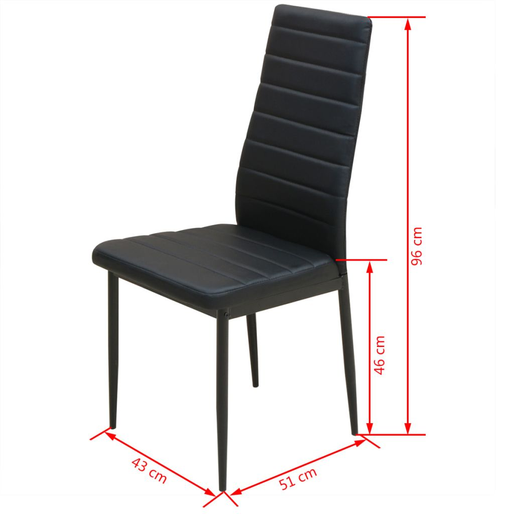 Five Piece Dining Table and Chair Set Black 8