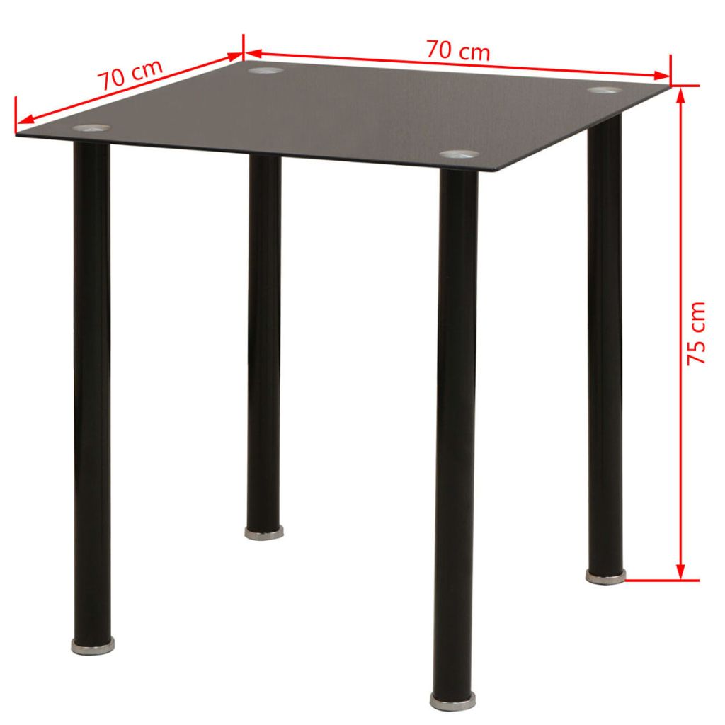 Five Piece Dining Table and Chair Set Black 9