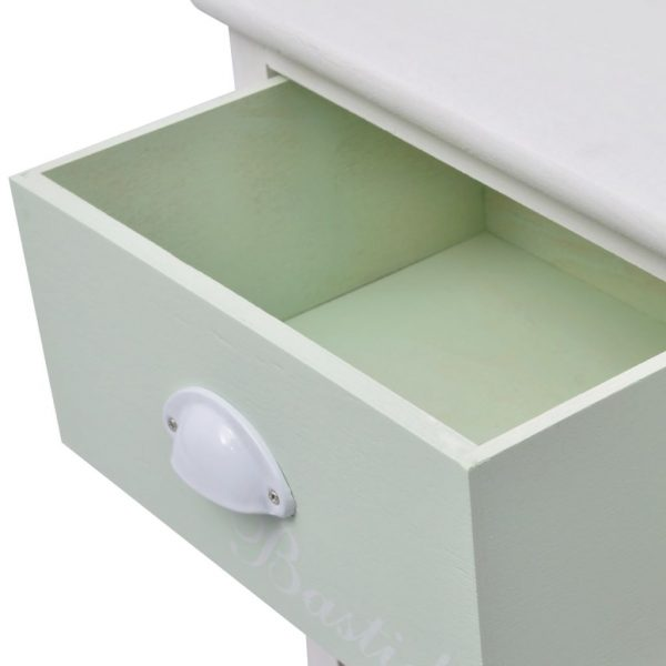 French Storage Cabinet 3 Drawers Wood 5