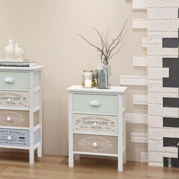 French Storage Cabinet 3 Drawers Wood 1