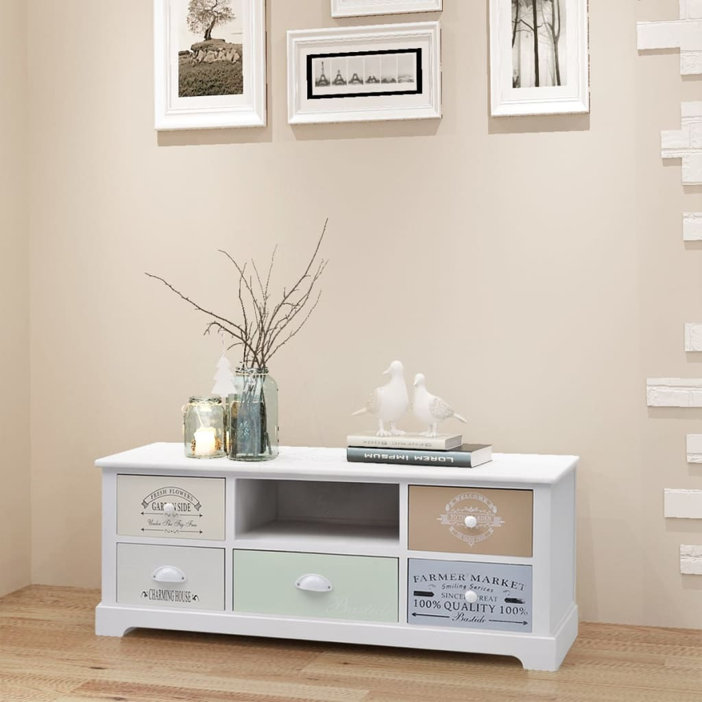 French TV Cabinet Wood