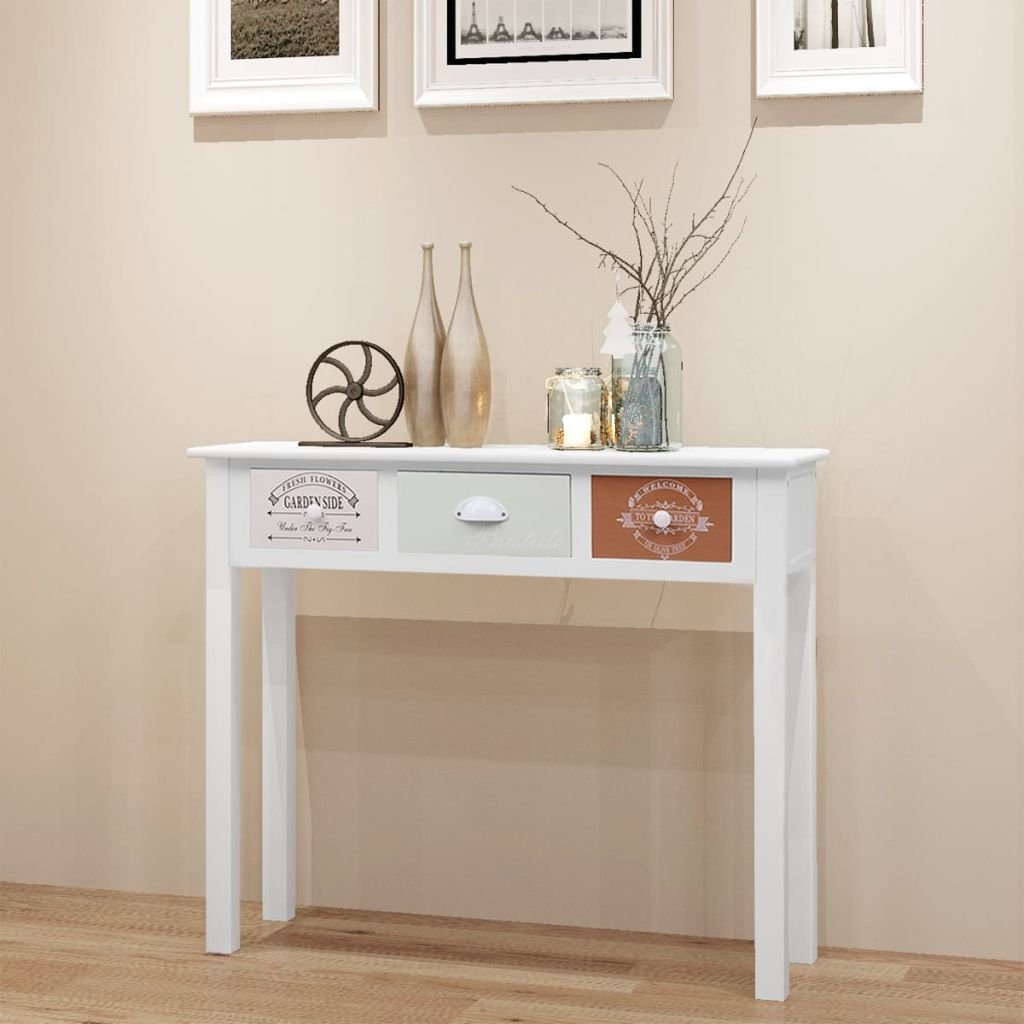 French Console Table Wood 1