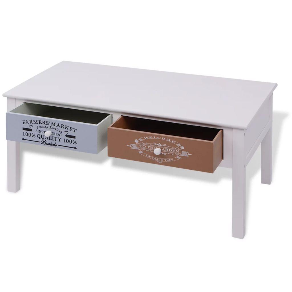 French Coffee Table Wood 4