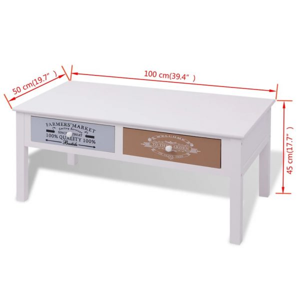 French Coffee Table Wood 8