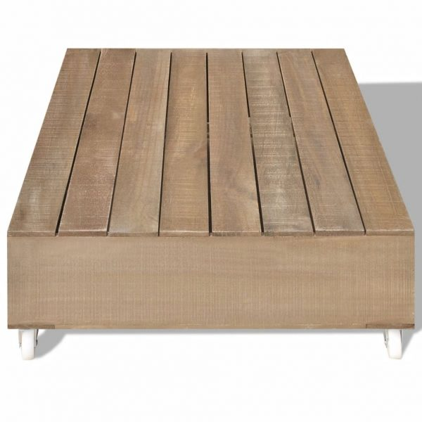 Coffee Table Brown Solid Wood 3