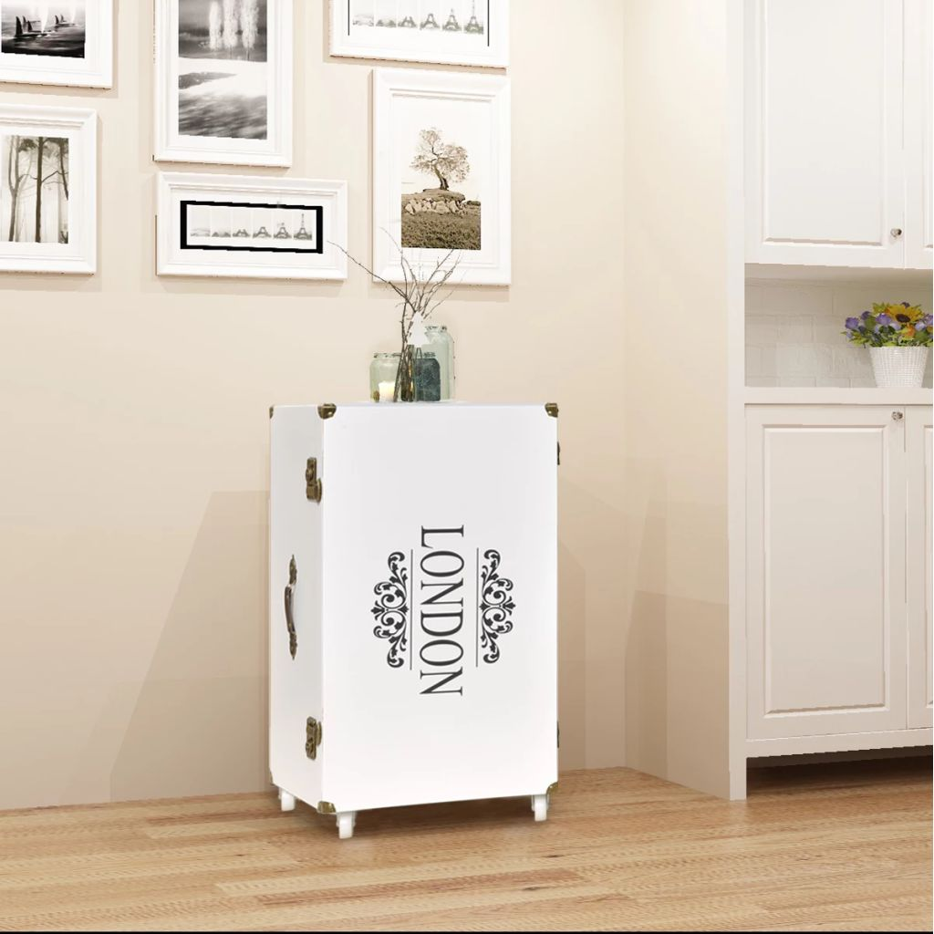 Trunk Side Cabinet 40x30.5x81 cm White