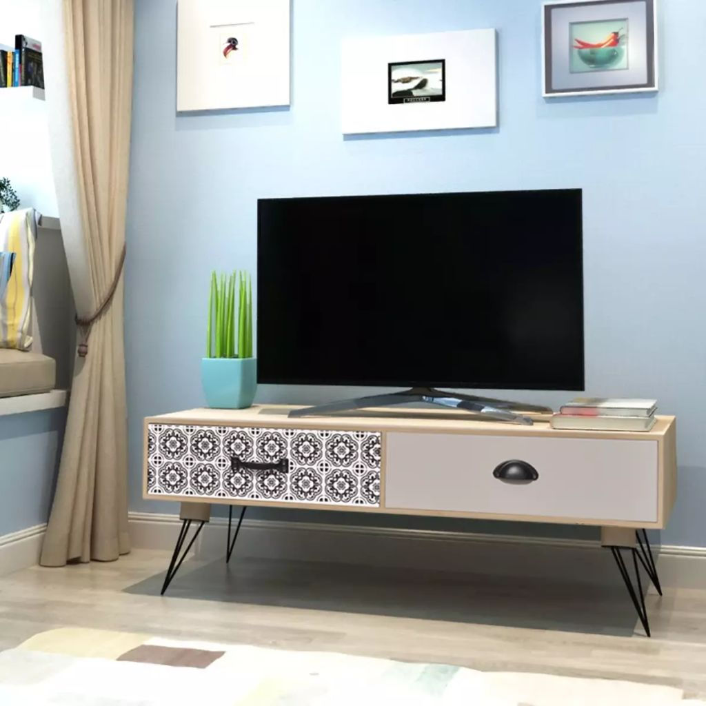 TV Side Table 100x40x35 cm Brown 1