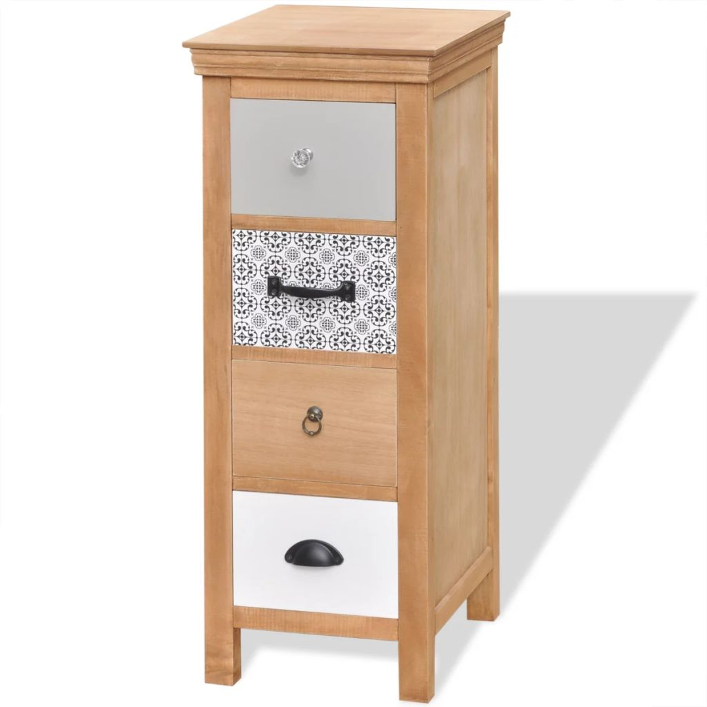 Drawer Cabinet 35x35x90 cm Solid Wood 2