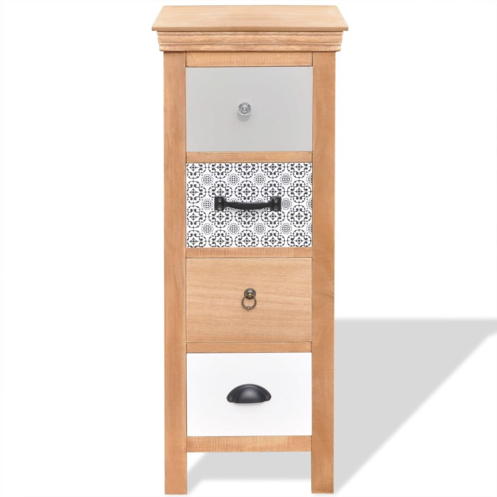 Drawer Cabinet 35x35x90 cm Solid Wood 3