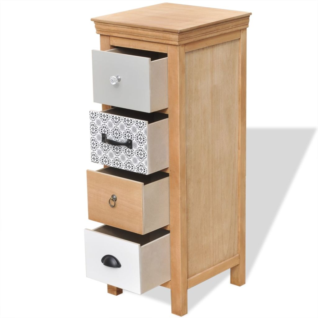 Drawer Cabinet 35x35x90 cm Solid Wood 4